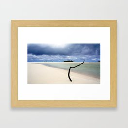 Beach Storm Framed Art Print
