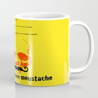 moustache Mugs featuring Moustache by morganPASLIER