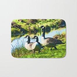Canada Geese Dream   Painting  Bath Mat