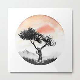Orange Desert Metal Print