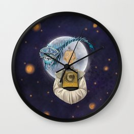 Grandfather, Kubo digital painting Wall Clock