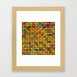 colorful geometric circle pattern abstract in orange yellow blue red Framed Art Print