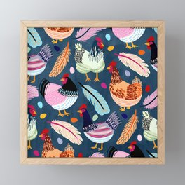 Trendy Chickens Framed Mini Art Print