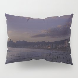 Sunset on the Beach in Rio de Janeiro - Panoramic Pillow Sham
