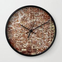 Washington West Columbia old map year 1945,colorful artwork Wall Clock