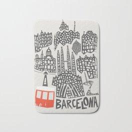 Barcelona Cityscape Bath Mat