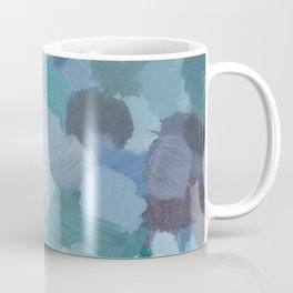 Turquoise Blue Green Mint Purple Abstract Geode Rock Wall Art Brush Painting Print Coffee Mug