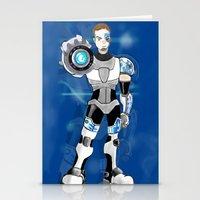 liam payne Stationery Cards featuring Liam Payne - Cyborg by allthreeplease