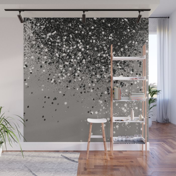 Silver Gray Glitter #1 #shiny #decor #art #society6 Wall Mural by ...