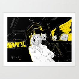 Bus Ride On Social Anxiety Art Print