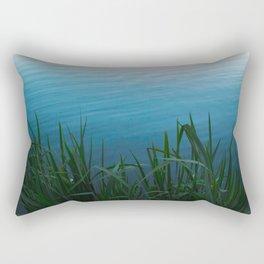 Bushes near the water Rectangular Pillow