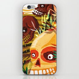 Necklace of Skulls iPhone Skin