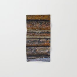 Aged Log Cabin rustic decor Hand & Bath Towel