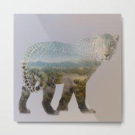 Leopard Shades Metal Print