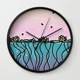 Underwater Lilies Wall Clock