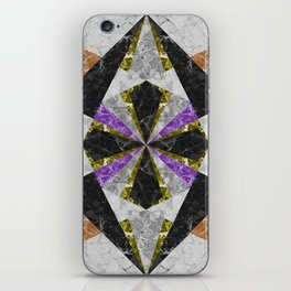 Marble Geometric Background G441 iPhone Skin