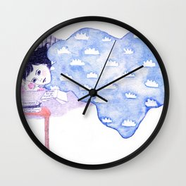 Birthday morning (with a glass of redcurrant juice) Wall Clock