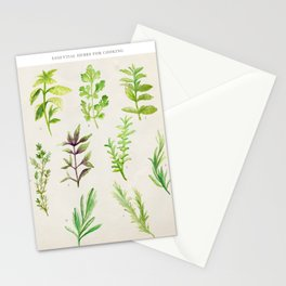 Watercolor Herbs Stationery Cards