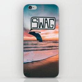 Swag Whale iPhone Skin
