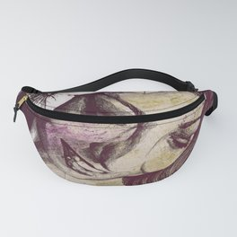 In The Year Of Our Lord: Wine (smiling lady with petunias) Fanny Pack