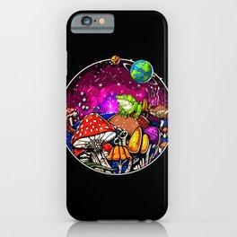 Psychedelic Magic Mushrooms Fungi Frog iPhone Case