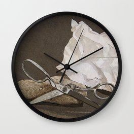 Rock, Paper, Scissors Wall Clock