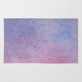 Hand drawn lilac ombre watercolor texture Rug