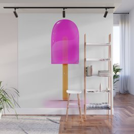 Pink Iced Lolly Wall Mural