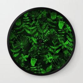 Abstract Botanical Garden IV Wall Clock