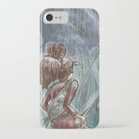 shadow of the colossus iPhone & iPod Cases featuring Arrietty and the Colossus by Josh Mauser