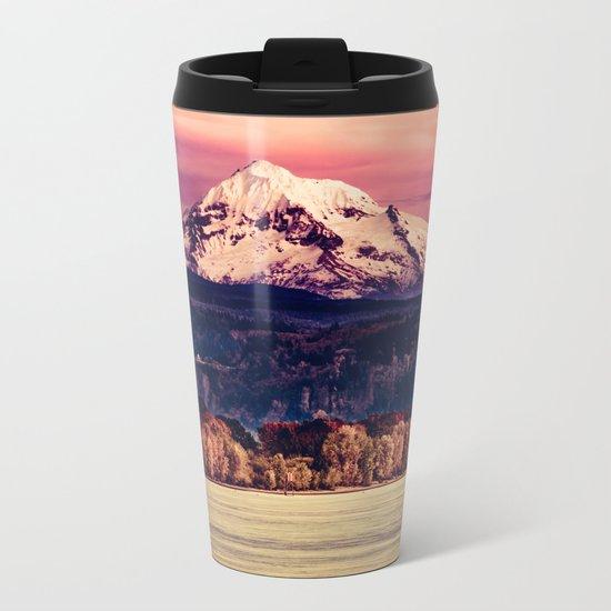 Mt Hood on Columbia River Metal Travel Mug
