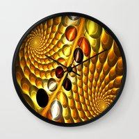 fractal Wall Clocks featuring Fractal by Digital-Art