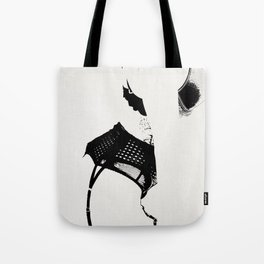 Figure of a Woman in Lingerie Tote Bag