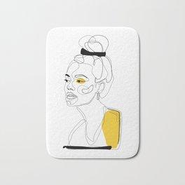 Yellow Sketch Bath Mat