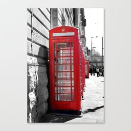 """""""Classic Britain"""" Telephone Booths Canvas Print"""