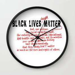 Black Lives (should!) Matter! Wall Clock