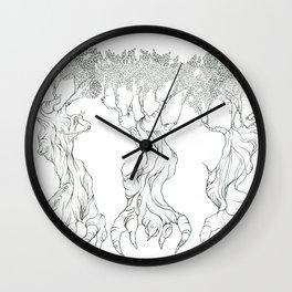 Three Free Trees Wall Clock