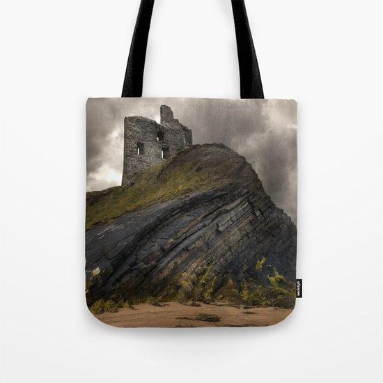 Forgotten castle in western Ireland Tote Bag