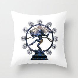 Shiva Nataraj, Lord of Dance (an actual factual fractal) Throw Pillow