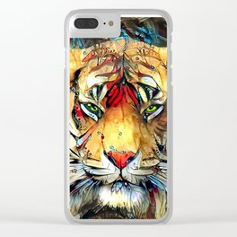 Fantazi (Tiger is Not Amused II) Clear iPhone Case