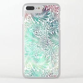 Watercolor Monstera | Colorful Tropical Leafs Clear iPhone Case