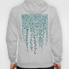 String Of Pearls plants watercolor 2 Hoody