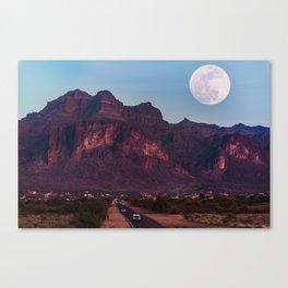 Super Blue Moon over Arizona #society6 #decor #buyart Canvas Print
