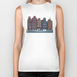 Amsterdam Canal houses Biker Tank