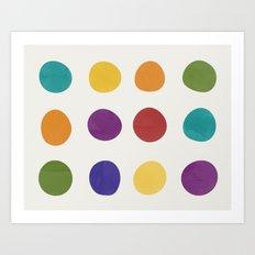 Color Dots Art Print