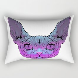 Black Magic Cat Rectangular Pillow
