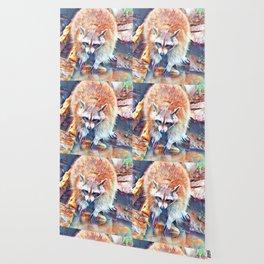 Aquarell Raccoon Wallpaper