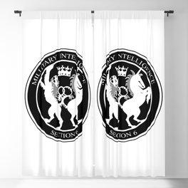 MI6 Logo (Millitary Intelligence Section 6) Blackout Curtain
