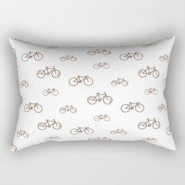 Bicycle sport pattern on white Rectangular Pillow