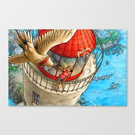 SOAR  -  lighthouse and girl Canvas Print